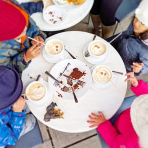 Hot chocolate at Trafiq, mom and kids dates in Vancouver