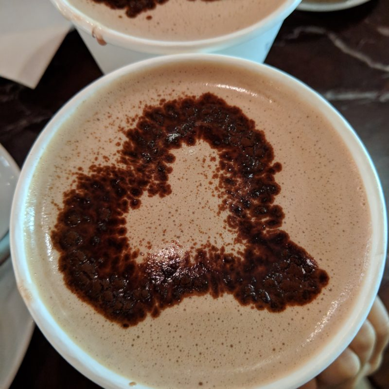 hot chocolate at Thomas Haas in Vancouver, with the kids