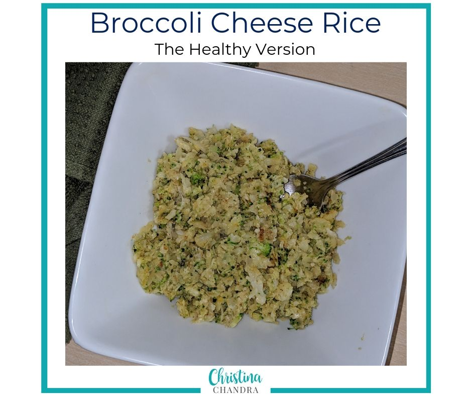 Broccoli Cheese rice recipe - a healthy version