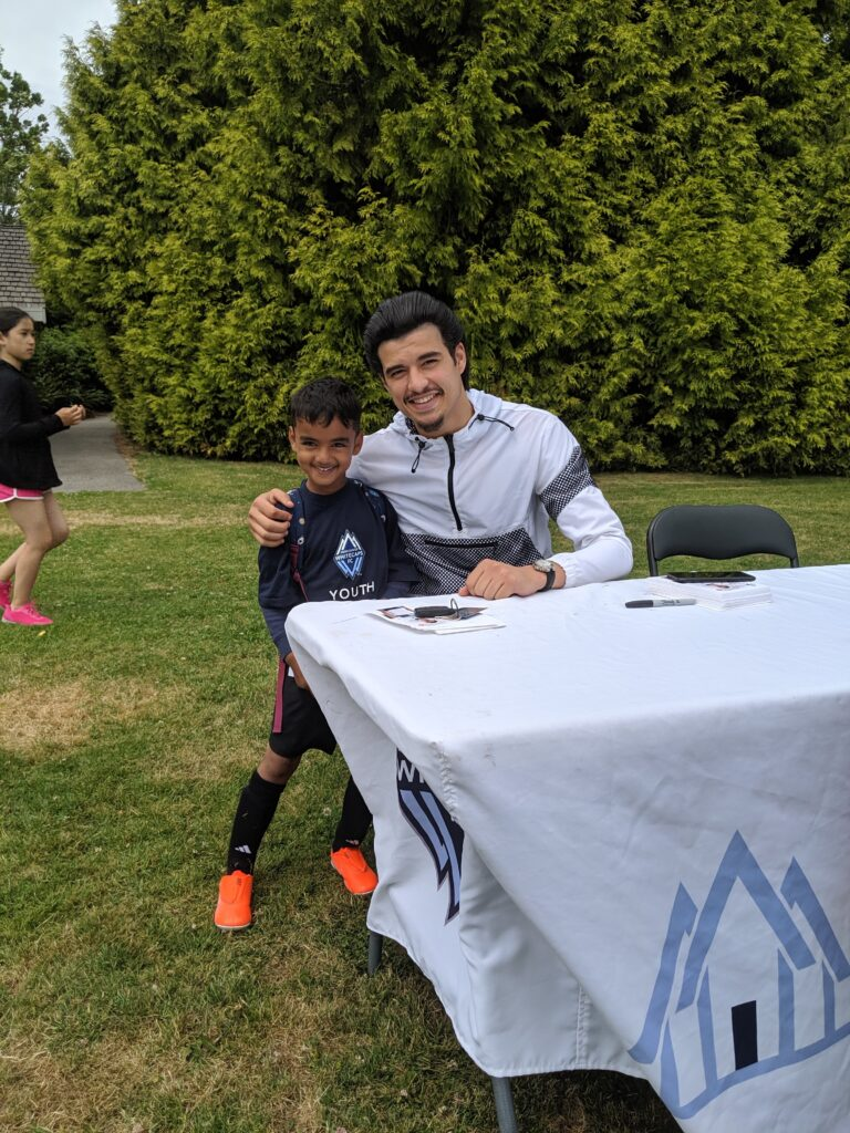 whitecaps jasser khmiri at whitecaps soccer camp