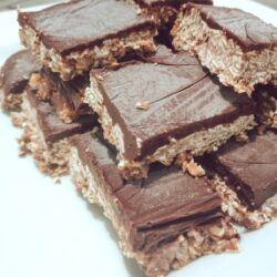 Chocolate oat bars by Christina Chandra