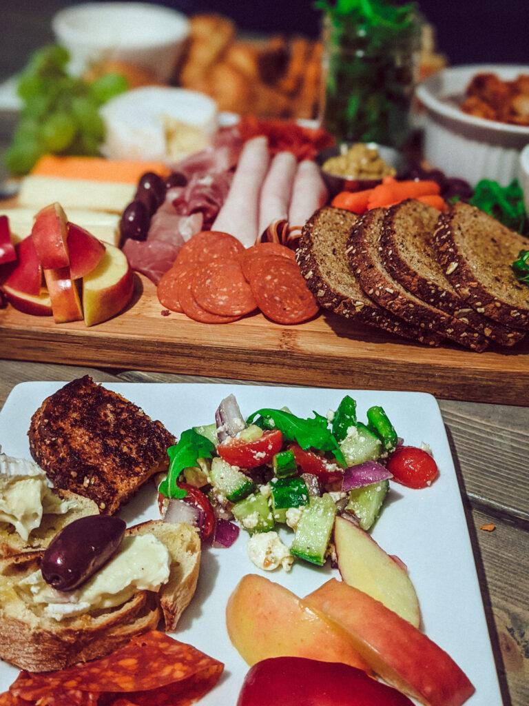 Charcuterie sandwich board_dinner plate christinachandra.com