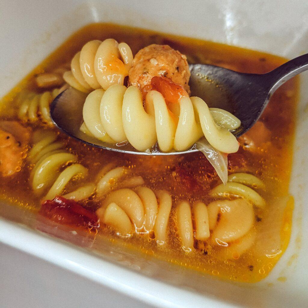 instant pot soup sausage and rotini_christina chandra