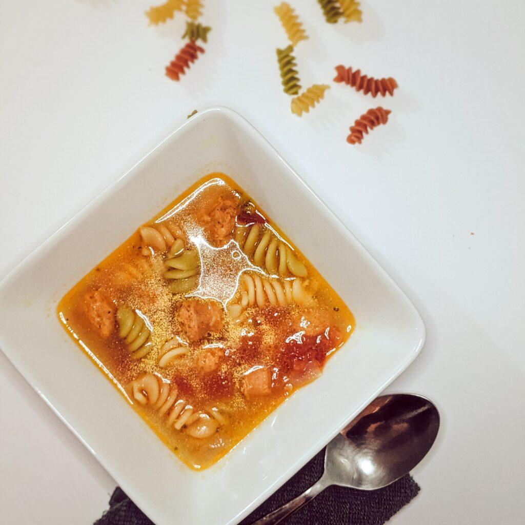 instant pot soup_rotini_sausage_christinachandra.com