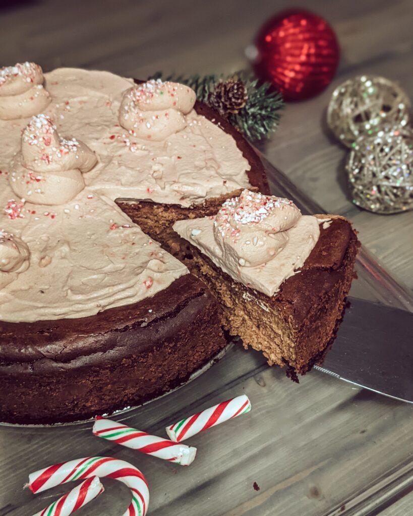 chocolate cheesecake with peppermint_christinachandra.com